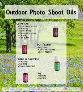 Essential oils to help make your outdoor photo shoot a success.